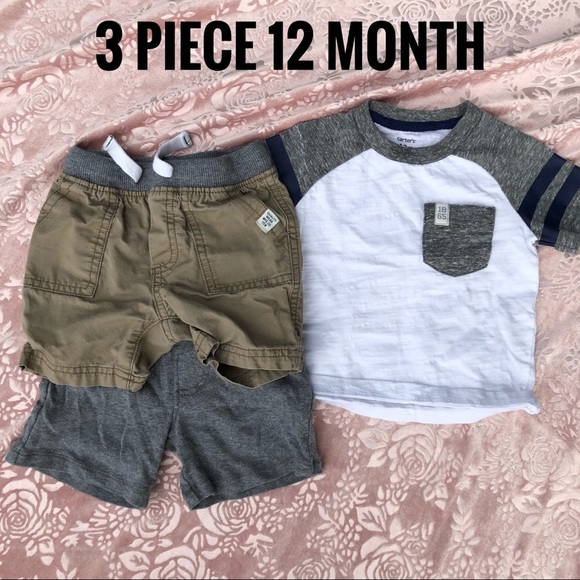 0a640ad40a78f Carter s Other - 3 piece 12 month boys mix match clothing lot gray
